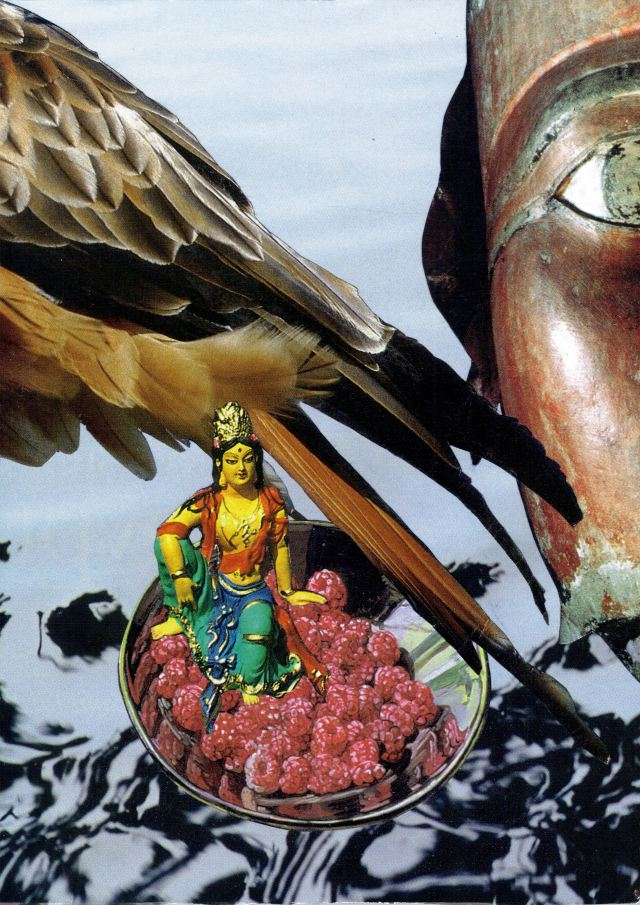Lakshmi  The Embodiment of Beauty: Collage by Christine Irving